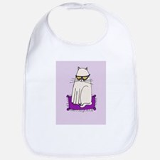Morrissey the Cat with glasses Bib