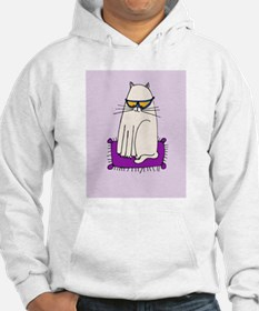 Morrissey the Cat with glasses Hoodie