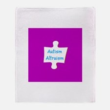 Support Autism Altruism Blue Purple Throw Blanket
