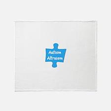 Practice Autism Altruism Blue Puzzle Throw Blanket