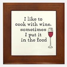 Wine Framed Tile