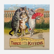 The Three Little Kittens Tile Coaster