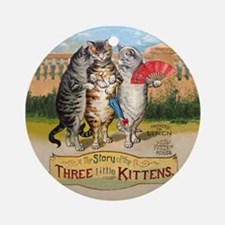The Three Little Kittens Ornament (Round)