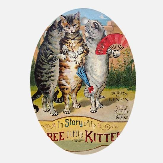 Three Little Kittens Lost Their Mittens Ornament (