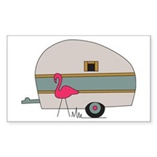 Camper Flamingo Bumper Stickers