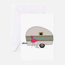 Camper Flamingo Greeting Cards (Pk of 20)
