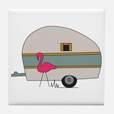 Camper Flamingo Tile Coaster