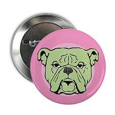 Halftone Bulldog Button