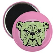 Halftone Bulldog Magnet
