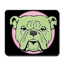 Halftone Bulldog Mousepad