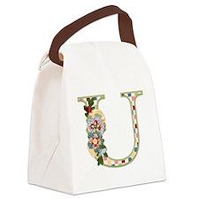Monogram Letter U Canvas Lunch Bag