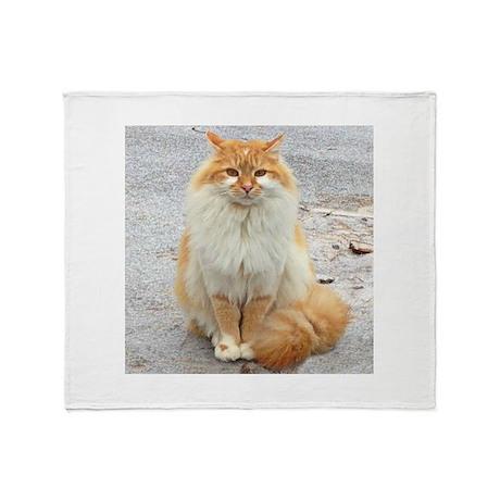 Tundra Kitty Throw Blanket
