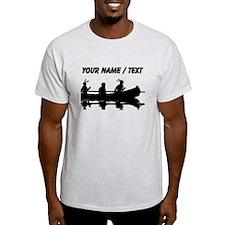 Custom Native Americans In Canoe T-Shirt