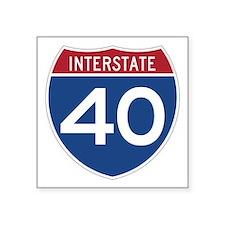 Interstate 40 Rectangle Sticker