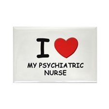 I love psychiatric nurses Rectangle Magnet