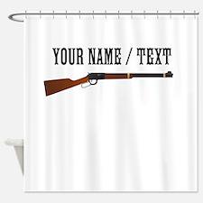 Custom Rifle Shower Curtain