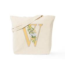 Monogram Letter W Tote Bag