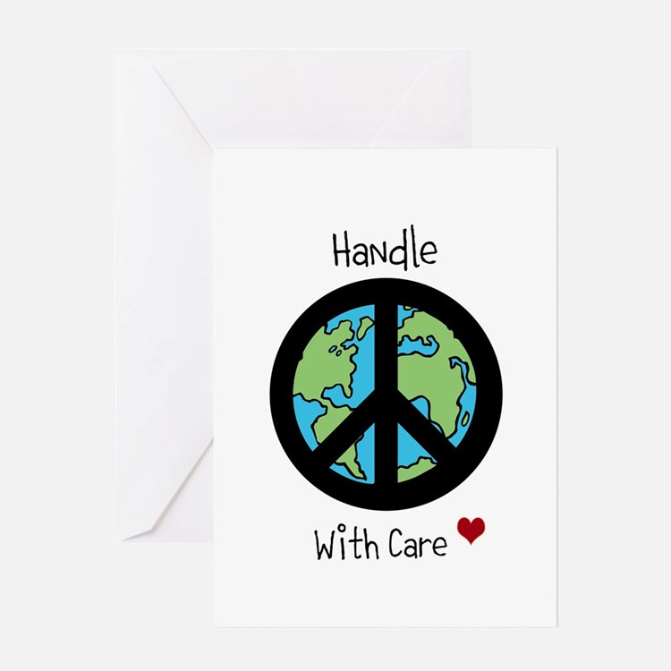 World Peace Earth day 2013 design Greeting Card