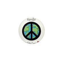 World Peace Earth day 2013 design Mini Button