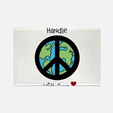 World Peace Earth day 2013 design Rectangle Magnet