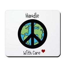 World Peace Earth day 2013 design Mousepad