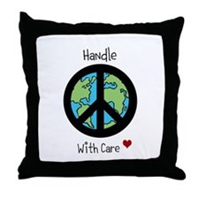 World Peace Earth day 2013 design Throw Pillow