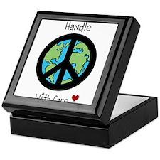 World Peace Earth day 2013 design Keepsake Box