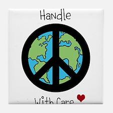 World Peace Earth day 2013 design Tile Coaster