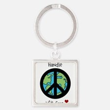 World Peace Earth day 2013 design Keychains
