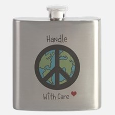 World Peace Earth day 2013 design Flask