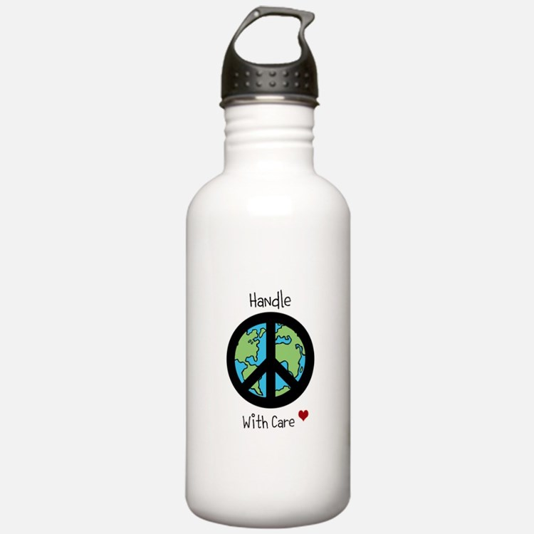 World Peace Earth day 2013 design Water Bottle