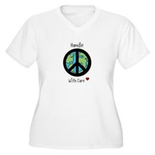 World Peace Earth day 2013 design Plus Size T-Shir