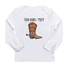 Custom Cowboy Boot Long Sleeve T-Shirt