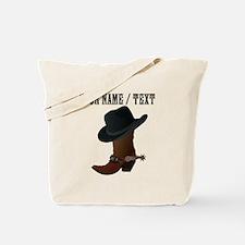Custom Cowboy Boot And Hat Tote Bag