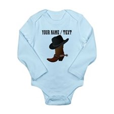 Custom Cowboy Boot And Hat Body Suit