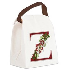 Monogram Letter Z Canvas Lunch Bag