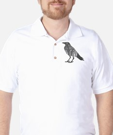 Forest Raven Silhouette Golf Shirt
