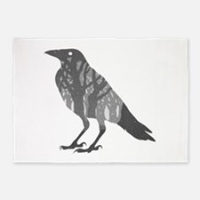 Forest Raven Silhouette 5'x7'Area Rug