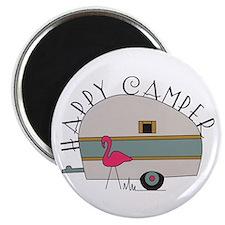 """Happy Camper 2.25"""" Magnet (10 pack)"""