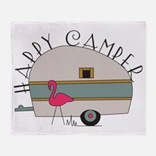 Happy Camper Throw Blanket