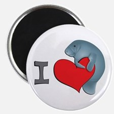 I heart manatees Magnet