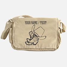 Custom Cowboy Hat And Boots Messenger Bag