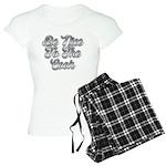 By Faith logo Organic Women's T-Shirt (dark)