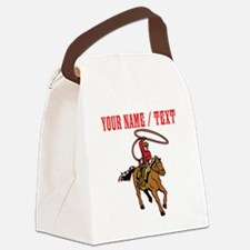 Custom Cowboy With Lasso Canvas Lunch Bag