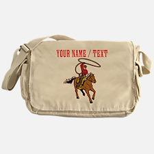 Custom Cowboy With Lasso Messenger Bag