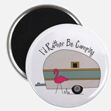 """Id Rather Be Camping 2.25"""" Magnet (10 pack)"""
