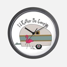 Id Rather Be Camping Wall Clock