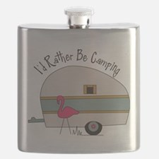 Id Rather Be Camping Flask