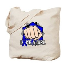 Rectal Cancer Punch Fight Like A Girl Tote Bag