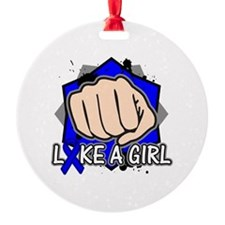Rectal Cancer Punch Fight Like A Girl Ornament